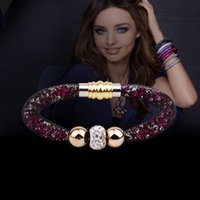 Wholesale 2015 New Stardust Crystal Bracelet Of Women Charm Bracelets Bangles With Magnetic Clasp Bangles