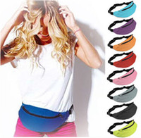 Wholesale 9 Colors Sport Unisex Runner Fanny Pack Belly Waist Bum Bag Fitness Running Jogging Belt Pouch