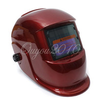 Wholesale Red Solar Auto Darkening Welders Welding Helmet Mask Tig Mag Grinding Function