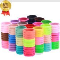 basics hair - 100pcs TS Hair accessory basic none seam tousheng ultra high elastic rubber band hair rope headband