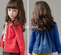 Cheap Polka Dots Jacket Coats Best kids cardigan for girls