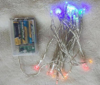 Wholesale LED Strings Christmas Lights Rushed Pure White Luzes De Natal Dhl Ems Holiday xAA Battery m Led String Mini Fairy Lights Power Operated