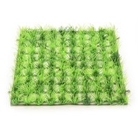 Wholesale 25cmx25cmx3 cm Aquarium Fish Tank Landscape Artificial Water Aquatic Green Grass Plant Lawn