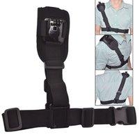 Wholesale Adjustable Elastic Elastic Polyester Fiber Fiber Chest Shoulder Belt Strap Harness Mount for Gopro Hero Cameras and sj4000 sj5000