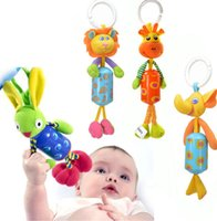 Wholesale 1Pcs Baby Infant Soft Animal Windbell Rattles Bed Stroller Bells Developmental Toys Rabbit Lion Deer Elephant