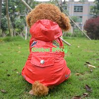 airforce jacket - 2015 New Fashion Red Blue Airforce Style Pet Dog Waterproof Jacket Coat Puppy Dog Raincoat Clothes