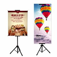 Wholesale POP Metal Tripod Bedframe Hanging Banner Up Display Telescopic Holder Poster Stand Surface Baking Dull Polish sets Good Packing