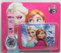 ice watches - Frozen Anna Elsa watches watch wallet Children s cartoon electronic watches Ice and snow princess watches Christmas gift watches