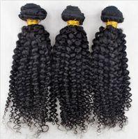 Wholesale Hot selling virgin brazilian human hair weaves afro curl natural color brazilian human hair extensions for black women