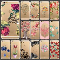 fur flower scarf - 2015 New Arrival Flowers Printed Transparent Soft TPU Back Skin Cover Case For iphone s quot WHD1291