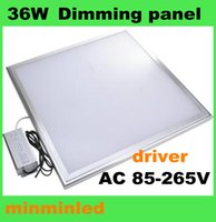 Cheap 1pc by DHL-36W 600*600mm bright LED Panel Light AC85-265V dimming no-dimming Ceiling Lamp for market office living room white warm white