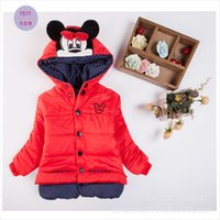 baby outer jacket - New style Baby Girls Winter Clothes Children Outer Kids Cotton Clothing Cartoon Cothing Kids Long Sleeves Hooded Jacket M094