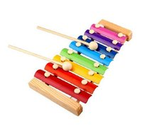 Wholesale 2015 new Melody Xylophone and Whistle Baby s Early Education Wooden Musical Instrument Toys Trailer Scales