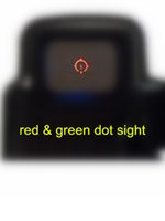 rifle scope - black holographic tactical HJ red and green Tri dot red dot sight rifle scope fits any mm rail
