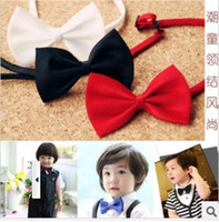 Wholesale 50pcs Cute Kids Boys Bow Tie Children Butterfly Type Necktie bow ties solid performance colors New