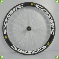 bicycle tire - 2015 MM Mavic COSMIC Carbon Wheels Bike Tire Bicycle Rims cassette C Clincher ceramic bearings on powerway Hubs Carbon road wheelset