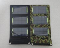 Wholesale 2015 NEW V W Foldable Solar Powered Charger USB Output For Charging Mobile Phones Solar Charger For Mobile Power Bank
