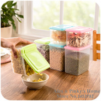 airtight food container - Kitchen Flip Food Storage Box Organizer Storage Tank Airtight Containers Sealed Home Organizer Of Whole Grains