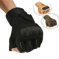 Wholesale New Outdoor Half Finger Gloves Military Tactical Airsoft Cycling Knuckle Motorcycle colors order lt no tracking