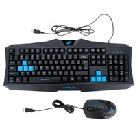 Wholesale Warwolf USB Wired LOL Dota Gaming Keyboard Button Optical Mouse Combo Set Kit for PC Laptop Notebook Desktop order lt no track
