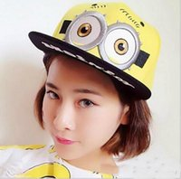 Wholesale Despicable Me Hat Minion Plush Hats Jorge Dave Stewart Cosplay Cap Despicable Plush Hat snapback hats Fashion Street Headwear