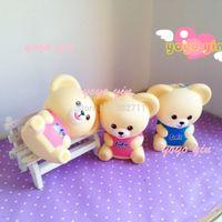 ball bearing chain - New Arrival Colors Jumbo Japan FAFA Teddy Bear Squishy Mascot Ball Chain