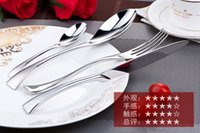 Wholesale 4Set KY Tableware cutlery sets steak knife dinner fork dinner Tea spoon different tableware stainless steel set