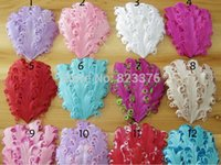 Wholesale DHL100pcs Freeshipping Chic Curly Feather Pads For Headbands Unfinished hair accessories