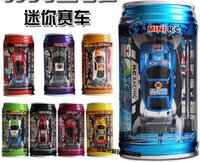 Wholesale 10pcs new arrive color Mini Racer Remote Control Car Coke Can Mini RC Radio Remote Control Micro Racing Car children toy Gift D140