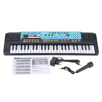 Wholesale 49 Keys Electronic Keyboard Music Toy Electronic Organ with Microphone and USB Jack MP3 Play Educational Electone Gift for Kids