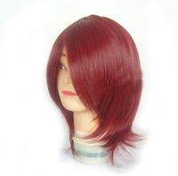 scythe - Short red Bob Soul Eater Death Scythe hair Cosplay party Wig jf010054