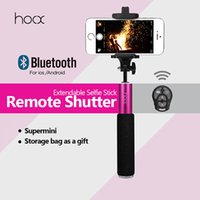 Wholesale 2015 Supermini Extendable Selfie Sticks Selfie Bluetooth Monopod Camera Monopod Holder for IOS or Android Phone with cm to cm