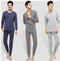 Wholesale Factory Price Cotton Men Thermal Underwear Set Autumn Winter Thin Long Johns Tops and Pants Plus Size Long Sleeve Underclothes