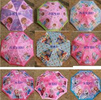 best automatic umbrella - 2015 Christmas girl Snow White Princess umbrella Frozen Elsa Sofia long Handle rain Umbrellas Baby Girls Kids Children Birthday Gift best
