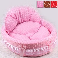 bedding princess - Hot Luxury Dog Princess Bed Lovely Pet Dog Cat Beds Sofa Comfort Puppy Sleeping Beds Teddy House for Dogs HT0011 Salebags