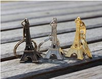 10-0.8 eiffel tower - 100pcs Best Hot Bulk Sale Paris Eiffel Tower Key Chain Keyring Antiqued Model Bronze Tone Gold Silver