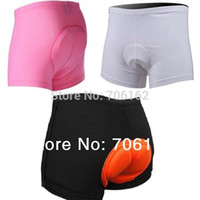 bicycle gel pad - New women man colors Cycling Underwear Gel D Padded Bike Bicycle Shorts M XLfitness sports wear bib short mountain bike clothing