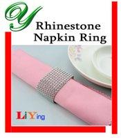 Wedding Napkin Rings - Diamond rhinestone Napkin Rings silver Napkin Ring wedding napkin holder Christmas Decoration table dinnerware crystal beads ring for napkin