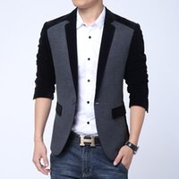 men suit fashion - Hot Selling New Design Blazer Men Autumn Slim Suits For Men Fashion Casual Suit Jacket Plus Size XL XL Colors