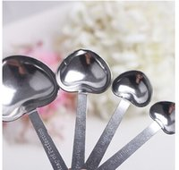 Wholesale Heart Shaped Measuring Spoons set with pink gift box Wedding Favors