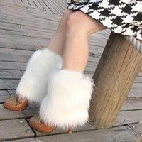 fluffies - New Fluffies Fluffy Furry Leg Warmers Boots Covers Rave Furries White