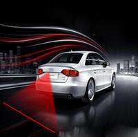 al por mayor h3 12v llevó luces-Impermeable Fácil instalación llevó coche luces de niebla láser Auto 12V-24V anti colisión luces de advertencia LED de advertencia adecuado para todos los modelos