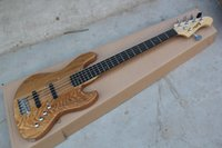 jazz bass - belief14 Top Quality F Jazz Bass String Rosewood Fretboard F Wood color Jazz Bass Guitar In Stock