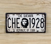 Wholesale new CHE Guevara retro license plate Tin Sign Vintage Metal Painting Tin Plate cafe bar garage Wall Decoration Home Decor Art