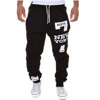 Wholesale New Sport Pants Men Casual Joggers New York Printed Trousers Hip Hop Harem Pants Outdoor Sport Sweatpants Tracksuit Mens Joggers