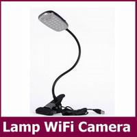 Acheter Caméra lampe-Wifi à distance Table Intelligent Lamp 1080P CCTV Mini caméra de détection de mouvement vidéo H.264 Code IR version nuit DVR USB Disk PC caméscope