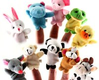 Wool Blend baby toy sale - 10 Cartoon Finger Puppet Finger Toy Doll Animal Doll Baby Dolls for Kid s Fairy Tale Finger Toys Cheap In Stock Puppet On Sale