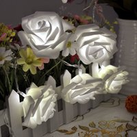 Wholesale Indoor Lighting Rose Fairy LED String Lights for Room Home Christmas Xmas Wedding Party Decoration Lights Warm White White m Leds
