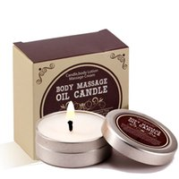 Sólido 55ml Aceite esencial cuadro / estaño Flower Essence SPA disfrute Cuerpo Aceite de masaje de cuerpo Aceite de masaje aromático aceite de cera de la vela