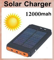 solar charger laptop computer - 12000 mAh Brand New High Capacity mAh Universal Solar Charger backup power bank solar For Laptop Computer PC Mobile phone POB051
